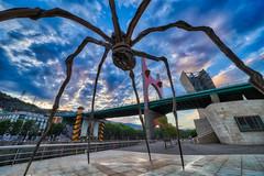 Spider & Bridge (orkomedix) Tags: canon eosr samyang 14mmf28 mamá statue bridge bilbao spain basque phototrip sky drama clouds light