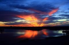 X Marks The Spot (PelicanPete) Tags: sunset firelight floridaeverglades palmbeachcounty unitedstates usa nature beauty natural loxahatchee national wildlife refuge xmarksthespot quartasunset491