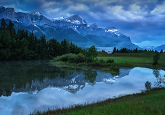Rockies (Robert Grove 2) Tags: morning canada mountains landscape early cloudy alberta rundle