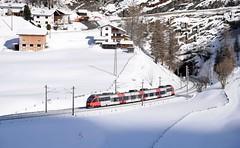 OBB S-Bahn_4024 075_St Jodok, Austria_060219_01 (DS 90008) Tags: stjodok 4024s 4024075 railway unit electrictrain sbahn obb train track austria wildlife winter hills valley brennerbahn trees worgl brenner