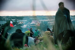 Glastonbury Festival 2019 (puppyhand) Tags: glasto glastonbury festival 19 2019 weekend worthy farm stone circle stoned candle candles seller sellers sell sold blanket sit sitting sunrise morning early late view sleep sleeping sleepy tired cloud clouds cloudy grass flag flags