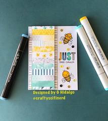 Just bee-cause (Craftyscifinerd) Tags: sssflickrchallenge126 simonsaysstamp cardmaking handmadecards