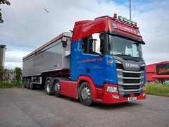 S & J Transport Ltd Scania R450 Bulk Tipper BU18 FZJ (5asideHero) Tags: s j transport ltd scania r450 bulk tipper bu18fzj