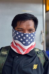 american flag fashions in thailand (4) (the foreign photographer - ฝรั่งถ่) Tags: american flag fashions man face mask phahoyolthin road bangkhen bangkok thailand nikon d3200 happyplanet asiafavorites