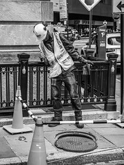 Catching Critters? (Steve Starer) Tags: person blackandwhite candid city financialdistrict manhattan ny nyc newyork newyorkcity newyorkcityphotography newyorkphotography people places street summer urban wallstreet outdoors peoplewatching unitedstatesofamerica
