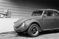beetle (xophe_g) Tags: beetle volkswagen car film analog nikonfe nikon50mm18e trix400 blackandwhite montreal