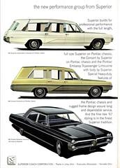 1967 Superior-Pontiac Limousines (aldenjewell) Tags: 1967 pontiac superior combination limousine consort embassy brochure