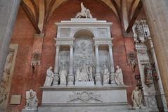 Titian Monument (Ryan Hadley) Tags: basilicadisantamariagloriosadeifrari santamariagloriosadeifrari frarichurch frari basilica church venice italy europe worldheritagesite titian monument sculpture art