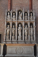 St. Peter's Chapel Altar (Ryan Hadley) Tags: basilicadisantamariagloriosadeifrari santamariagloriosadeifrari frarichurch frari basilica church venice italy europe worldheritagesite altar altarpiece sculpture