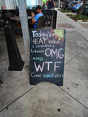Downtown Tampa (ktmqi) Tags: tampa downtown city urban urbanrenewal sign sidewalk funny advertising