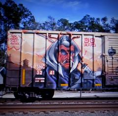 (timetomakethepasta) Tags: sluts dehse swab chee blk freight train graffiti art 30 years snc boxcar uti