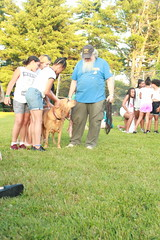 Keystone K9s Search and Rescue visit camp