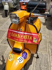 Lambretta convention (Leaning Ladder) Tags: lecce italy italia puglia apulia lambretta scooter motorcycle yellow canon 7dmkii leaningladder