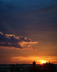 Sunset - 7/3/19 (ep_jhu) Tags: xt3 washington sunset sol dc fujifilm crepuscular rays nationalcathedral silhouette nubes fuji sky cathedral light clouds sun explore