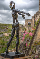 Welcome to Matera (Leaning Ladder) Tags: matera italy italia basilicata sassi sculpture hdr canon 7d 7dmkii leaningladder