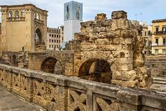 Old Lecce (Leaning Ladder) Tags: lecce italy italia puglia apulia roman ruins stone canon 7d mkii leaningladder