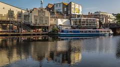 Canal reflections (PhredKH) Tags: 2470mm canal canoneos5dmkiii canonphotography ef2470mmf4lisusm fredkh london londonphotographer photosbyphredkh phredkh regentscanal splendid cityoflondon people camden camdentown boat bridge water scenic