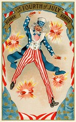 Hurrah! For the Fourth of July! Hurrah! (Alan Mays) Tags: sb258 paper cards 4th ephemera postcards fourthofjuly greetings july4th 4thofjuly july4 fourth independenceday printed greetingcards old blue red white men yellow vintage stars typography gold clothing holidays fireworks antique stripes hats beards illustrations patriotic clothes type series banners explosions fonts borders firecrackers 1908 unclesam hurrah 1900s typefaces scrolls postcardseries
