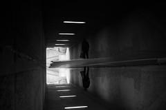 strolling (maekke) Tags: bw man reflection 35mm underground switzerland noiretblanc pov streetphotography tunnel pointofview fujifilm zürich ch puddlegram x100f 2019