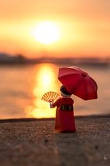 Kimono girl at sunrise (2017) #TBT (Ballou34) Tags: 2017 7dmark2 7dmarkii 7d2 7dii afol ballou34 canon canon7dmarkii canon7dii eos eos7dmarkii eos7d2 eos7dii flickr lego legographer legography minifigures photography stuckinplastic toy toyphotography toys kōbeshi hyōgoken japon stuck in plastic kimono girl sunrise water harbor
