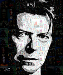 Bowie (SØS'Art) Tags: artist bowie digitalartwork art kunstnerisk manipulation solveigøsterøschrøder artistic man photocollage photomosaic 100views