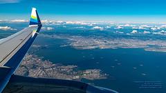 San Francisco Bay Under An EMB-175ER's Wing (AvgeekJoe) Tags: aerialphotograph d5300 dslr e75l erj170200lr erj175 erj175lr embraer embraererj170200lr embraererj175 embraererj175lr n624qx nikon nikon1020mm nikon1020mmafpdxf4556gvr nikond5300 nikonnikkor1020mmafpdxf4556gvr aerial aerialphoto aerialphotography aircraft airplane aviation jetliner plane