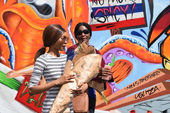 DSC_0713 Monika and Lisa from Namibian Portrait Photo Shoot on Location Shoreditch London Old Street Artwork (photographer695) Tags: monika lisa from namibian portrait photo shoot location shoreditch london old street artwork
