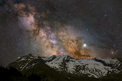 milky way over the mountains (cfaobam) Tags: sony a7iii ioptron skytracker astronomy astrophotography astro milkyway milchstrasse nightscape landscape astrofotografie astrophoto astrofoto milchstrase mountains pyrenäen pirineos pyrénées visipixcollections