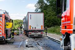 Lkw-Auffahrunfall A3 Medenbach 03.07.19 (Wiesbaden112.de) Tags: 3 autobahn a3 rettung vu feuerwehr rettungsdienst polizei bab unfall notarzt verkehrsunfall vku stenzel eingeklemmt wiesbaden112 stauende lkwunfall zusammenstos deutschland sst