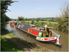 ULTIMA & THULE (Jason 87030) Tags: ultima thule boat craft vessel butty working cut canal guc grandunioncanal people woman dress color colour sunny welton shot weather fields countrysie northants northamptonshire image canon eos water red yellow green blue sky