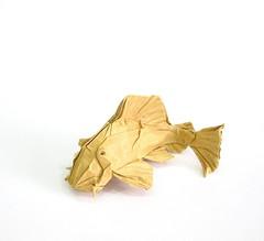Plecostomus (folding~well) Tags: origami paper folding fish catfish pleco aquarium