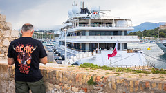 POWER... (Dare to share) Tags: antibes man france acdc port marina power harbour yacht helicopter transportation expensive motorboat luxury alpesmaritimes unsustainable