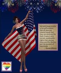 Independence Day . . . (Brandy Madison) Tags: sl secondlife sltransgendermodel slmodel slsexy slfashion slbeauty slfemmefatale slpretty slfeminine slgirls slwomen slhairstyles slhighheels sllgbt sltransgender transgender tgirl sltgirl lgbt shemale sldiversity slgender slpride