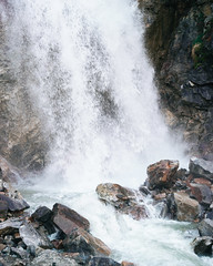 Waterfall in the Pass - 001 (i threw a guitar at him.) Tags: water fall waterfall white pass skagway alaska spring 2019 rushing flowing fast thaw out rocks natural scenic creative commons attribution free