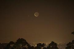 Tonight's Crescent Moon, plus Mars (PsJeremy) Tags: crescent moon doncaster melbourne nightsky mars planet astrophotography dusk australia sonya6000