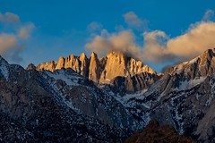 Dawn's Early Light on Mount Whitney. (RS2Photography) Tags: california light mountain art nature sunrise canon dawn natur mountwhitney sierranevada lonepine sierranevadas naturephotography easternsierra alabamahills new eos flickr natural unofficial fourteeners mountains easternsierras inyo inyocounty smugmug