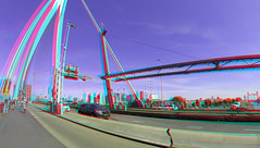 Erasmusbrug Rotterdam 3D GoPro (wim hoppenbrouwers) Tags: erasmusbrug rotterdam 3d gopro anaglyph stereo redcyan 200mm hefbrug brug