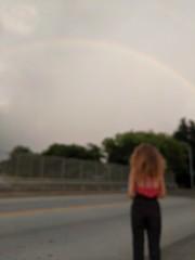 Rainbow (friesframe) Tags: under rainbow richmond virginia byrd park sunset storm model july 4th fourth natural fireworks vmfa