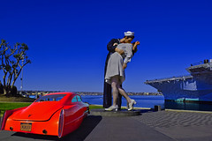 Happy Fourth of July (oybay©) Tags: 4thofjuly july4th july4 independenceday usa unitedstates us sandiego ussmidway famousstatue cadzilla cadillac car automobile rewhiteandblue red white blue colors color colorful patriotic sandiegobay