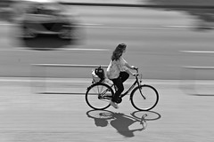 cityMotion (O.Krüger) Tags: niedersachsen deutschland germany maschsee monochrom bw bianconero blackwhite bike frau woman streetphotography sw schwarzweis socialdocumentary fahrrad peopleinthecity people urban urbanexploration motion panning mitzieher hannover bestportraitsaoi