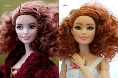 siobhán before / after (photos4dreams) Tags: dress barbie mattel doll toy photos4dreams p4d photos4dreamz barbies girl play fashion fashionistas outfit kleider mode puppenstube tabletopphotography shioban redhead siobhán