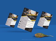 Corporate Flyer (ruhuld89) Tags: flyer corporate slik creative elegant black professional modern white stylish unique print ready
