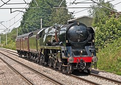 britrish india line (midcheshireman) Tags: steam train locomotive bulleid britishindialine mainline cheshire