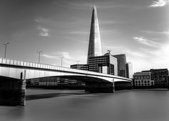 Monochrome High-rise (Jacob Arnold Photo) Tags: nikkor leefilters nikon londonbridge thames tourism uk city england shard london longexposure monochrome bw