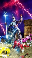 Lord ZEDD victorious? (custombase) Tags: powerrangers figures lordzedd hasbro lightningcollection shfiguarts red yellow blue pink black rangers diorama toyphotography