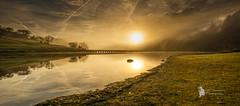 Ladybower misty morning (Lumen01) Tags: mist lake water fog sunrise dawn nikon derwentvalley shoreline reservoir d800 ladybower on1 standingwater on1raw reflections