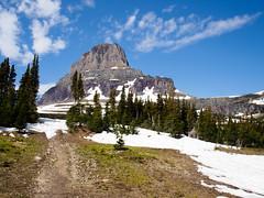 Clements Mountain from Mt Oberlin Trail (Stephen Gravrock) Tags: hiking glaciernationalpark landscape clementsmountain montana spring2019montanatrip 17mmf18
