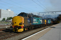37218 and 37059 Crewe 04/07/2019 (Brad Joyce 37) Tags: 37218 37059 0z37 crewe cheshire station drs directrailservices class37 locomotive train lightengine sunshine bluesky blue nikon d7100