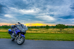 Independence Day, July 4th sunrise (Dave Hallock) Tags: morning sky nova grass clouds sunrise virginia nikon va bmw motorcycle rt hdr highdynamicrange r1200rt hallock bmwrt d7100 nikond7100 davehallock painterly boxer lc liquidcooled overcast stormfront trees field bmwmotorcycles german motorrad bmwmotorrad brembo opposedtwincylinder