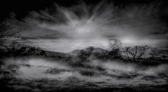 vue depuis la montagne... (JDS Fine Art Photography) Tags: bw nature landscape skyscape sky clouds stormy dramatic dramaticclouds cinematic atmosphere mist drama inspirational mystical arizona